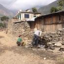 De badkamer na de aardbeving